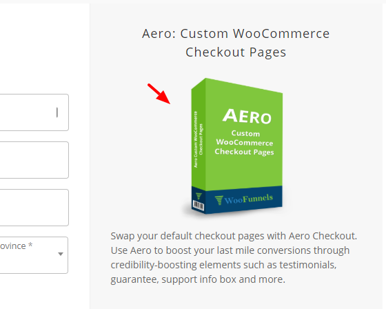 woocommerce checkout template with product image