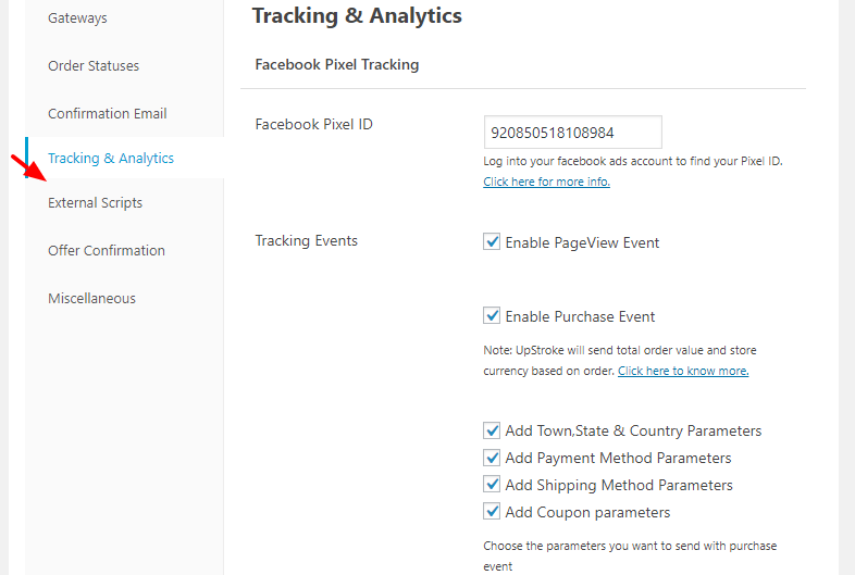 Facebook Conversion Tracking With One Click Upsells