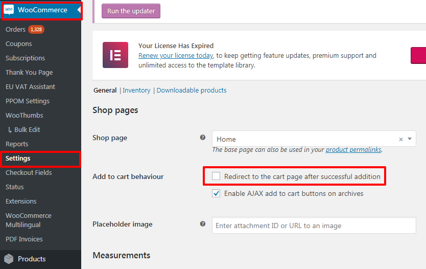 How to redirect to Cart page after adding new product to
