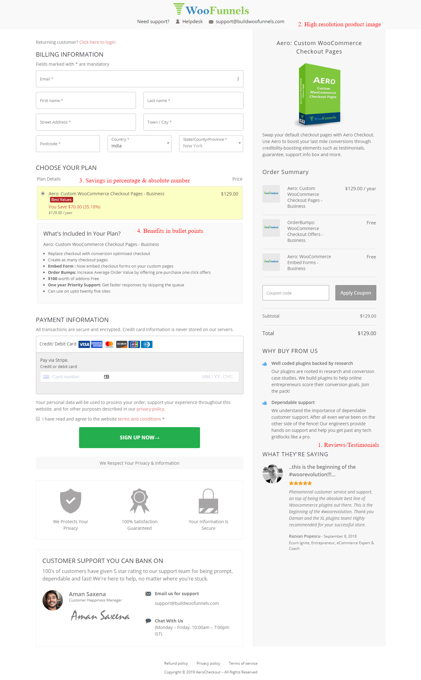woocommerce checkout template