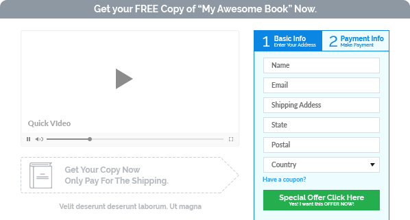 Screenshot af an embed form in the checkout page