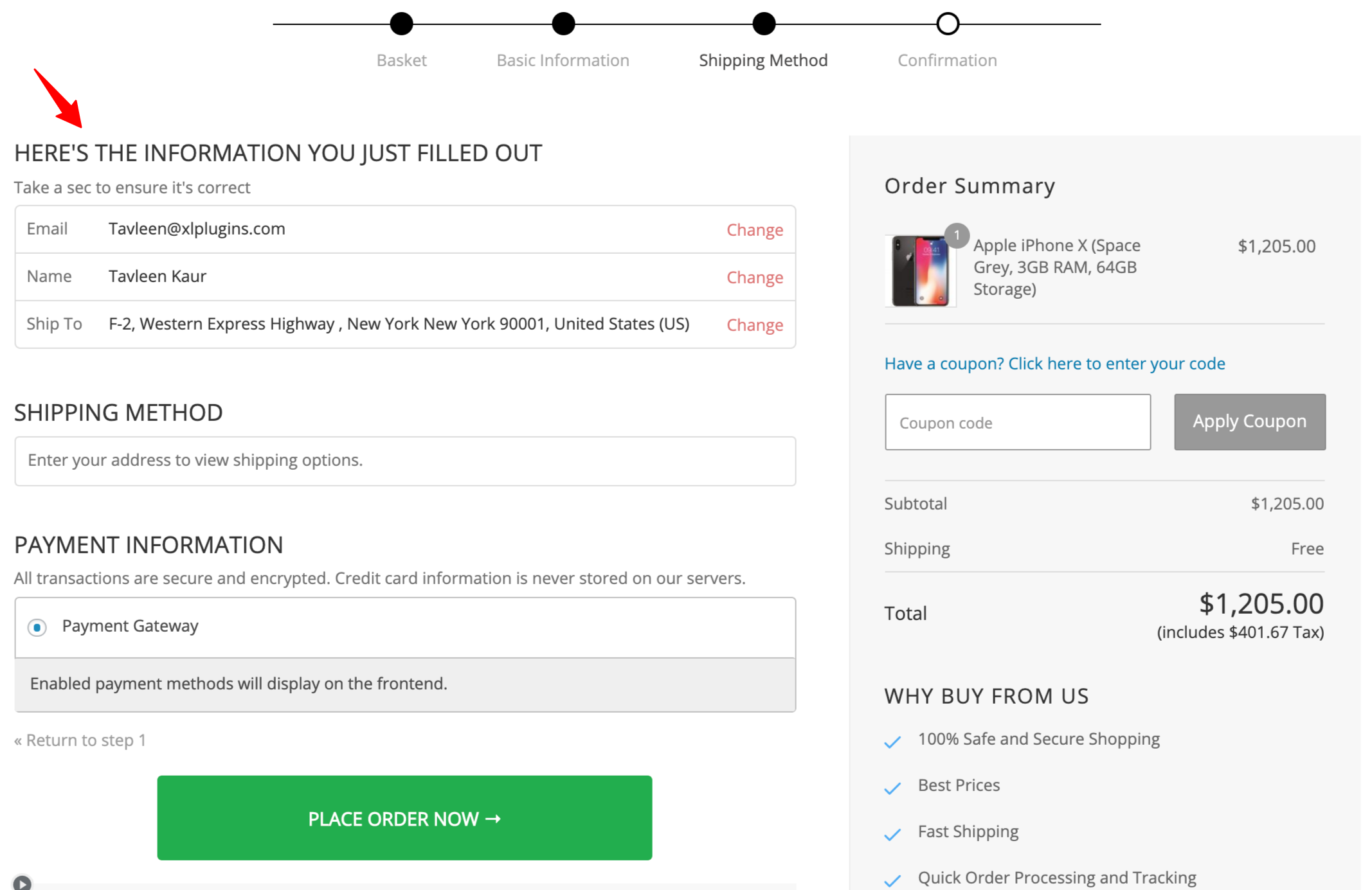 woocommerce checkout fields preview