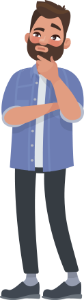 Graphic of a man looking puzzled