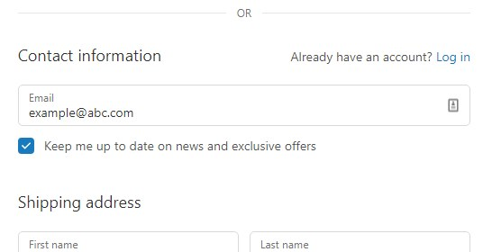 shopify checkout in woocommerce email field