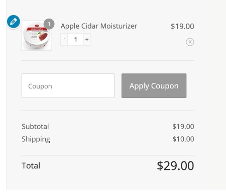 shopify checkout in woocommerce cart editing aero
