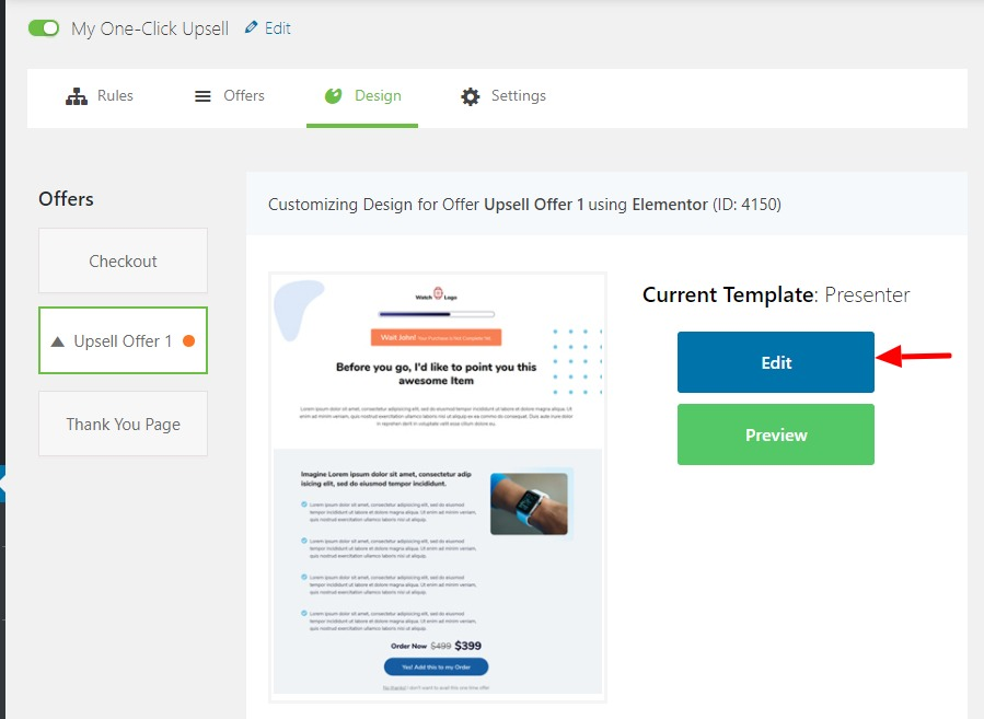 WooFunnels-Global-Checkout-Upsell-Template-Edit