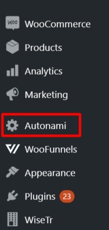 WordPress-Menu-Autonami