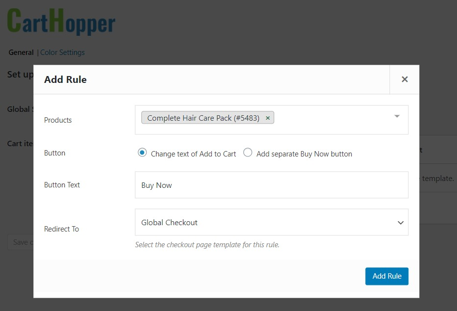 Add rules to WooCommerce Skip Cart for particular products.