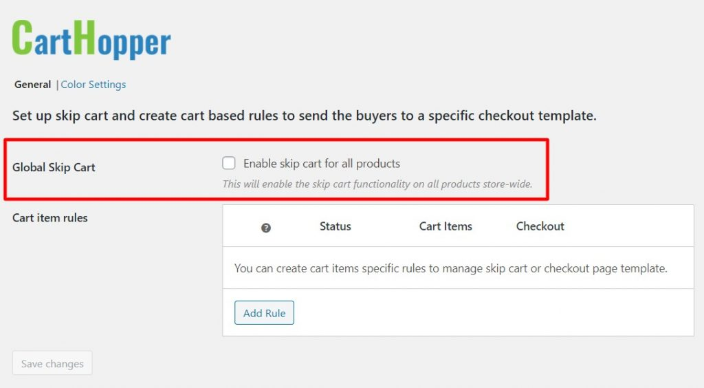 Global WooCommerce Skip Cart option enables skip cart for all products