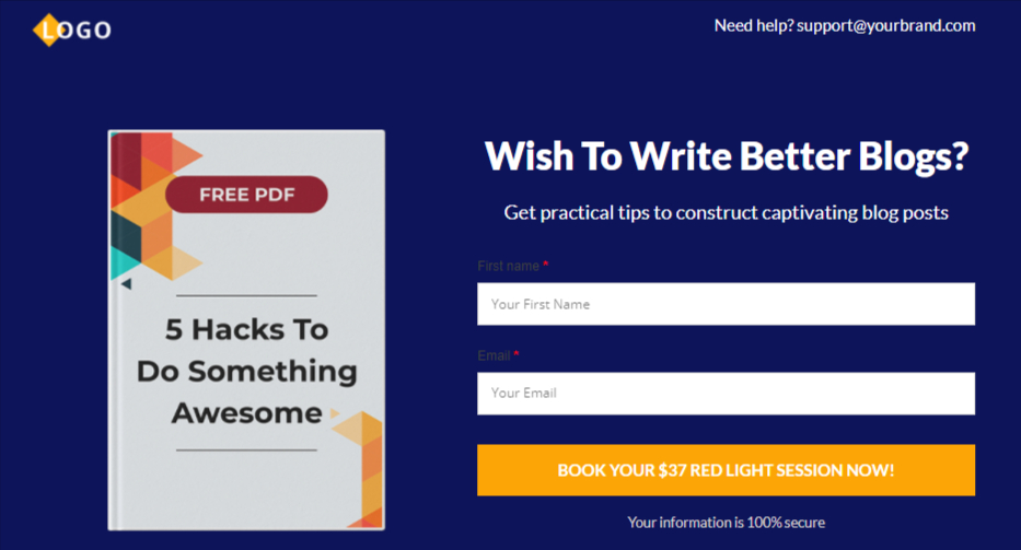 Divi inline option page template