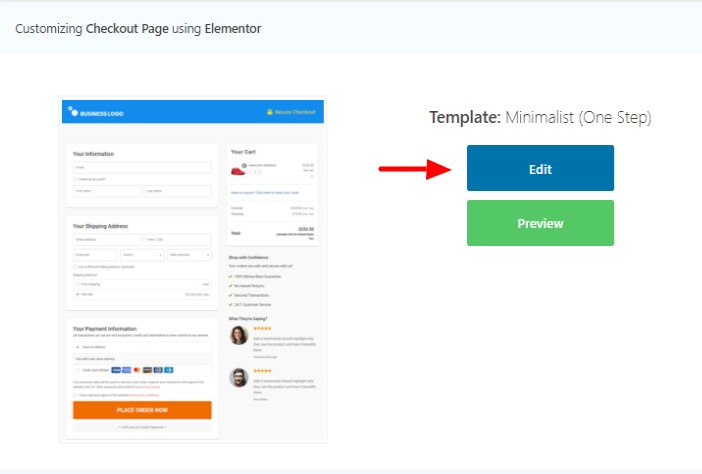 WooFunnels-Global-Checkout- template-edit