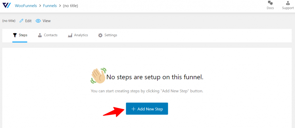 Add new step in your funnel