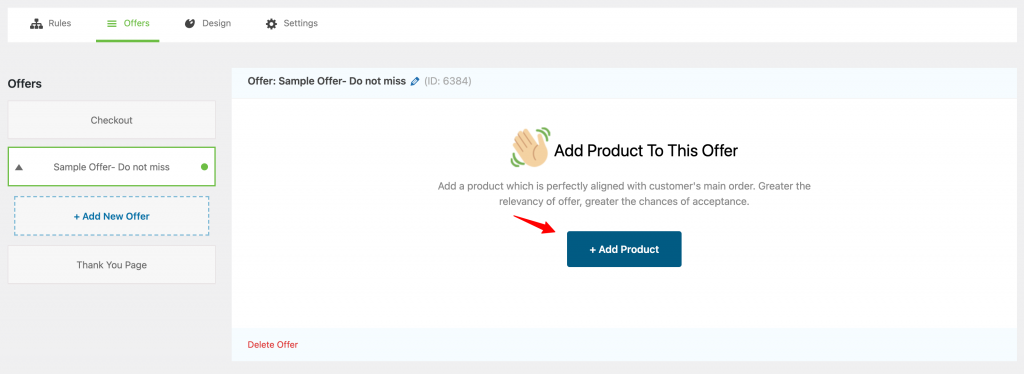 Add products as upsell