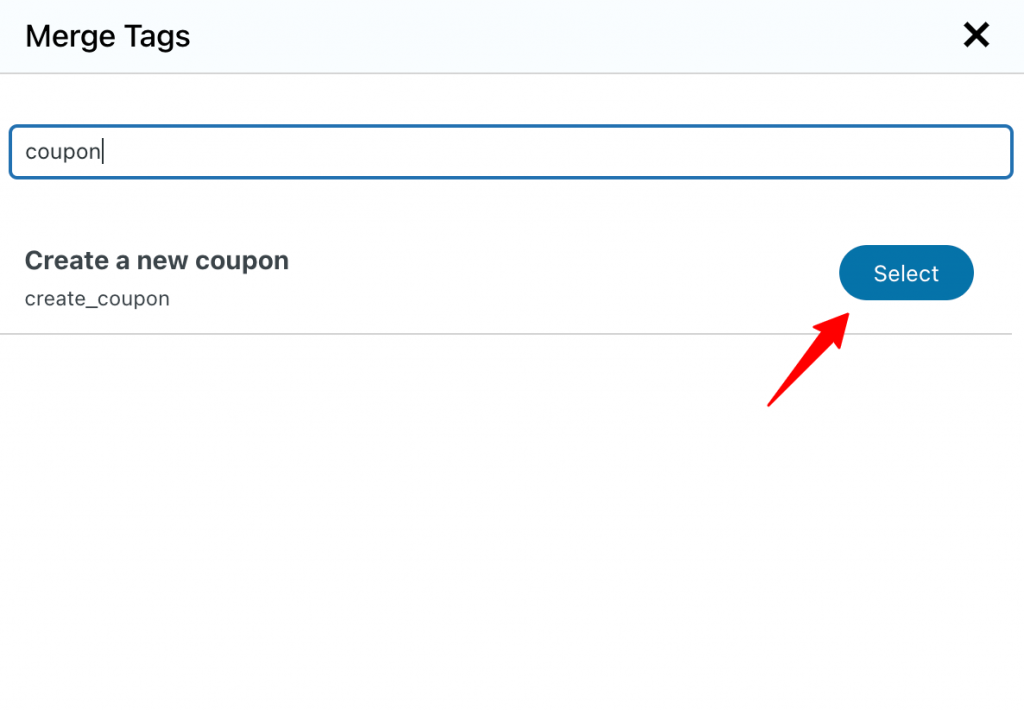 Create a new coupon