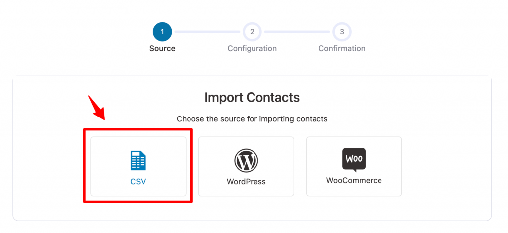 Import contacts from CSV in Autonami CRM