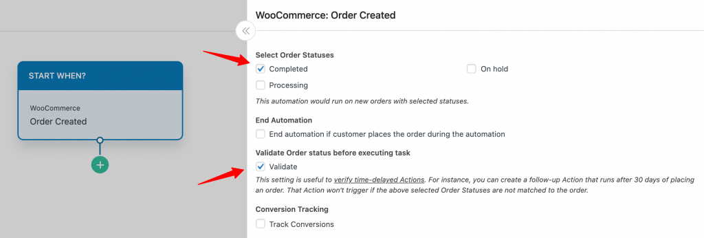 Order created config