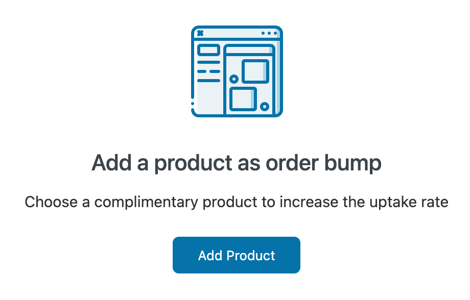 Add a product as order bump