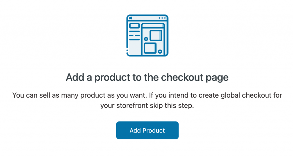 Add a product to the checkout page