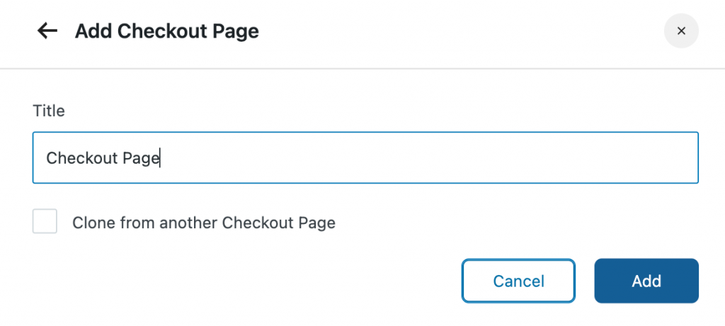 Name your checkout page
